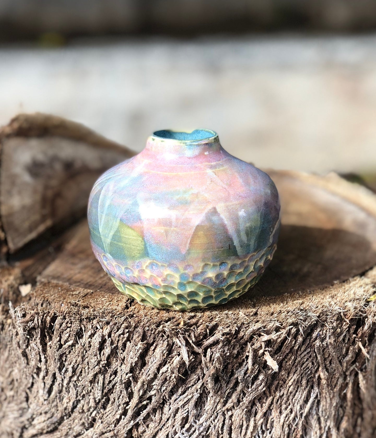 Dreamy Soft Multi Color Flower Bud Vase, Mini Vase - Hsiaowan Studios Handmade Ceramics Pottery