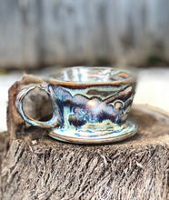 Load image into Gallery viewer, Geyser Eruption - Drippy Glaze Personal Pour Over Coffee Dripper - Hsiaowan Studios Handmade Ceramics Pottery