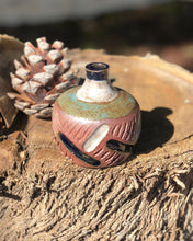 Load image into Gallery viewer, South West Rustic Mini Flower Bud Vase / Incense holder - Hsiaowan Studios Handmade Ceramics Pottery