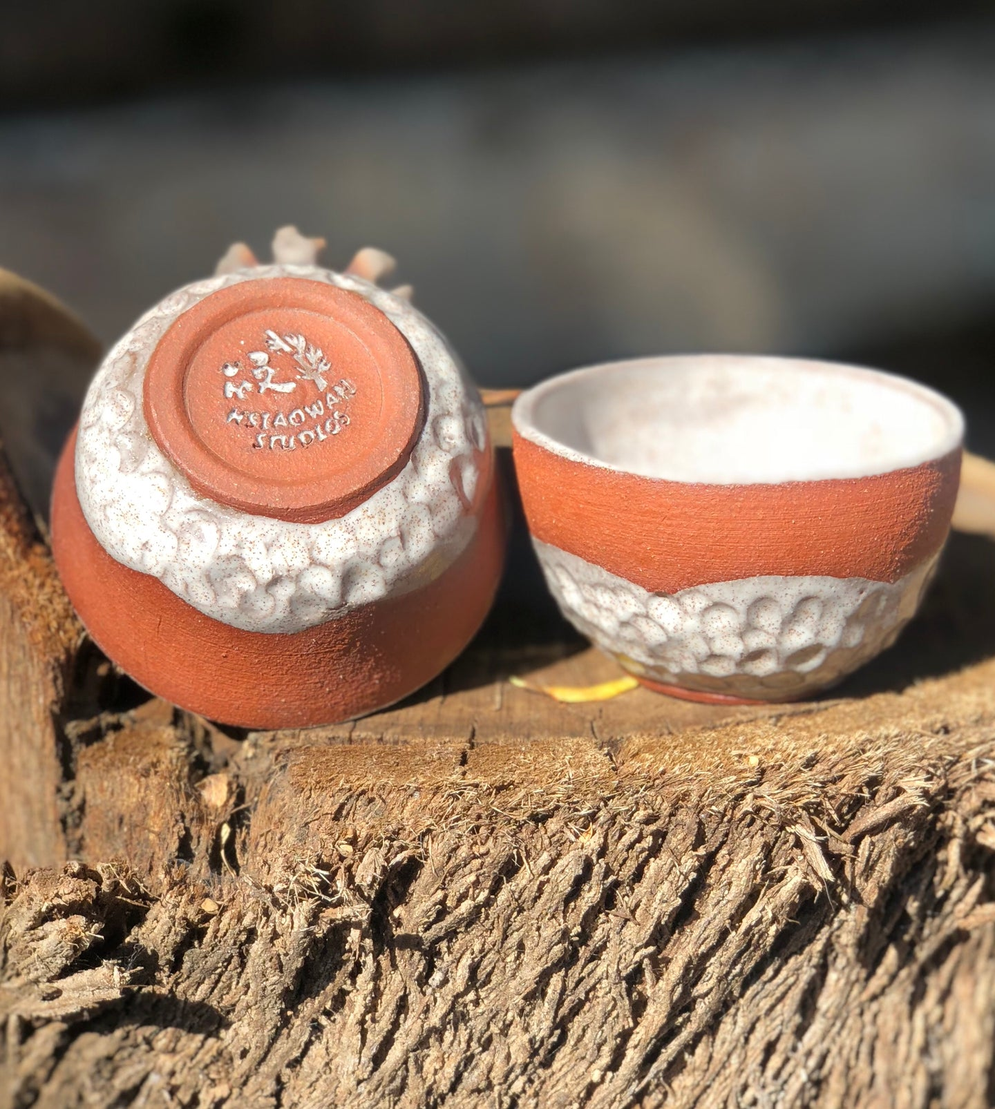 Set of 2 Sake Cups / Shot Glass / Espresso Cup / Chinese Tea cup - Hsiaowan Studios Handmade Ceramics Pottery