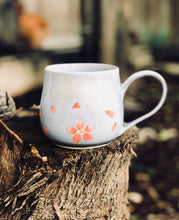 Load image into Gallery viewer, Violet Sakura mug - Hand painted cherry blossom Ceramic Mug 14oz - Hsiaowan Studios Handmade Ceramics Pottery