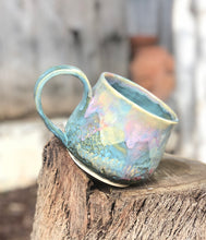 Load image into Gallery viewer, Large Pink Blue Opal Mug - Dreamy Soft Multi Color Ceramic Mug 20 oz - Hsiaowan Studios Handmade Ceramics Pottery