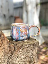 Load image into Gallery viewer, Misty Wild Geyser - Misty Wild drippy Ceramic Coffee Mug 18 oz - Hsiaowan Studios Handmade Ceramics Pottery