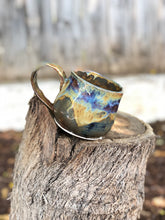 Load image into Gallery viewer, Ice Cavern - Drippy Glaze Ceramic Mug 13 oz - Sample / Seconds / SALE - Hsiaowan Studios Handmade Ceramics Pottery