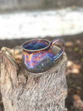 Load image into Gallery viewer, Aurora borealis N° 4- Drippy Purple Ceramic Mug 12 oz - Hsiaowan Studios Handmade Ceramics Pottery