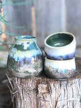 Load image into Gallery viewer, Cloudy Forest Sake Bottle and Cup Set - Hsiaowan Studios Handmade Ceramics Pottery