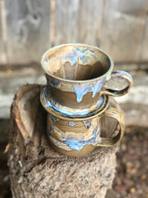 Load image into Gallery viewer, Chocolate Lava Ceramic Hand Pour Coffee Dripper and  Mug Set 15 oz - Hsiaowan Studios Handmade Ceramics Pottery