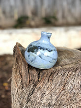 Load image into Gallery viewer, Blue Crystal Flower Bud Vase, Mini Vase - Hsiaowan Studios Handmade Ceramics Pottery