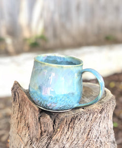 Large Opal Mug - Dreamy Soft Color Ceramic Mug 17 oz - Hsiaowan Studios Handmade Ceramics Pottery
