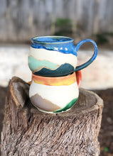 Load image into Gallery viewer, Landscape Mountain Mug under Sunset  14 oz - Hsiaowan Studios Handmade Ceramics Pottery