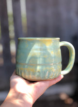 Load image into Gallery viewer, Summer Melon Ceramic Coffee Mug Hand Carved texture  14 oz - Hsiaowan Studios Handmade Ceramics Pottery