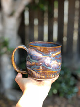Load image into Gallery viewer, Misty Wild Geyser - N°. 3 Misty Wild drippy Ceramic Coffee Mug 14 oz - Hsiaowan Studios Handmade Ceramics Pottery