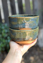Load image into Gallery viewer, Drippy Turquoise - Handmade Ceramic Bowl 15 oz - Hsiaowan Studios Handmade Ceramics Pottery