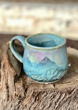 Load image into Gallery viewer, Blue Pink Opal Mug #3 - Dreamy Soft Multi Color Ceramic Mug 14 oz - Hsiaowan Studios Handmade Ceramics Pottery