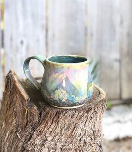 Opal Mug N° 1 - Dreamy Soft Multi Color Ceramic Mug 15 oz - Hsiaowan Studios Handmade Ceramics Pottery