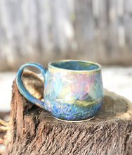Load image into Gallery viewer, Pink Blue Opal Mug N°. 2 - Dreamy Soft Multi Color Ceramic Mug 12 oz - Hsiaowan Studios Handmade Ceramics Pottery