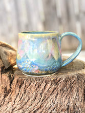Load image into Gallery viewer, Pink Blue Opal Mug N°. 3 - Dreamy Soft Multi Color Ceramic Mug 11 oz - Hsiaowan Studios Handmade Ceramics Pottery