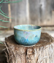 Load image into Gallery viewer, Blue Opal Bowl - Dreamy Soft blue and pink  14 oz - Hsiaowan Studios Handmade Ceramics Pottery