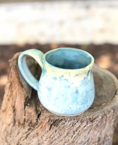 Minty Green Ceramic Coffee Mug 12 oz - Hsiaowan Studios Handmade Ceramics Pottery