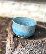 Load image into Gallery viewer, Blue Opal Bowl - Dreamy Soft blue and pink  15oz - Hsiaowan Studios Handmade Ceramics Pottery