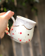 Load image into Gallery viewer, Real Gold Luster Red Polka Dots Ceramic Coffee Mug 10 oz - Hsiaowan Studios Handmade Ceramics Pottery