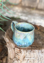 Load image into Gallery viewer, Pink Blue Opal Mug  - Dreamy Soft Multi Color Ceramic Mug 12 oz - Hsiaowan Studios Handmade Ceramics Pottery