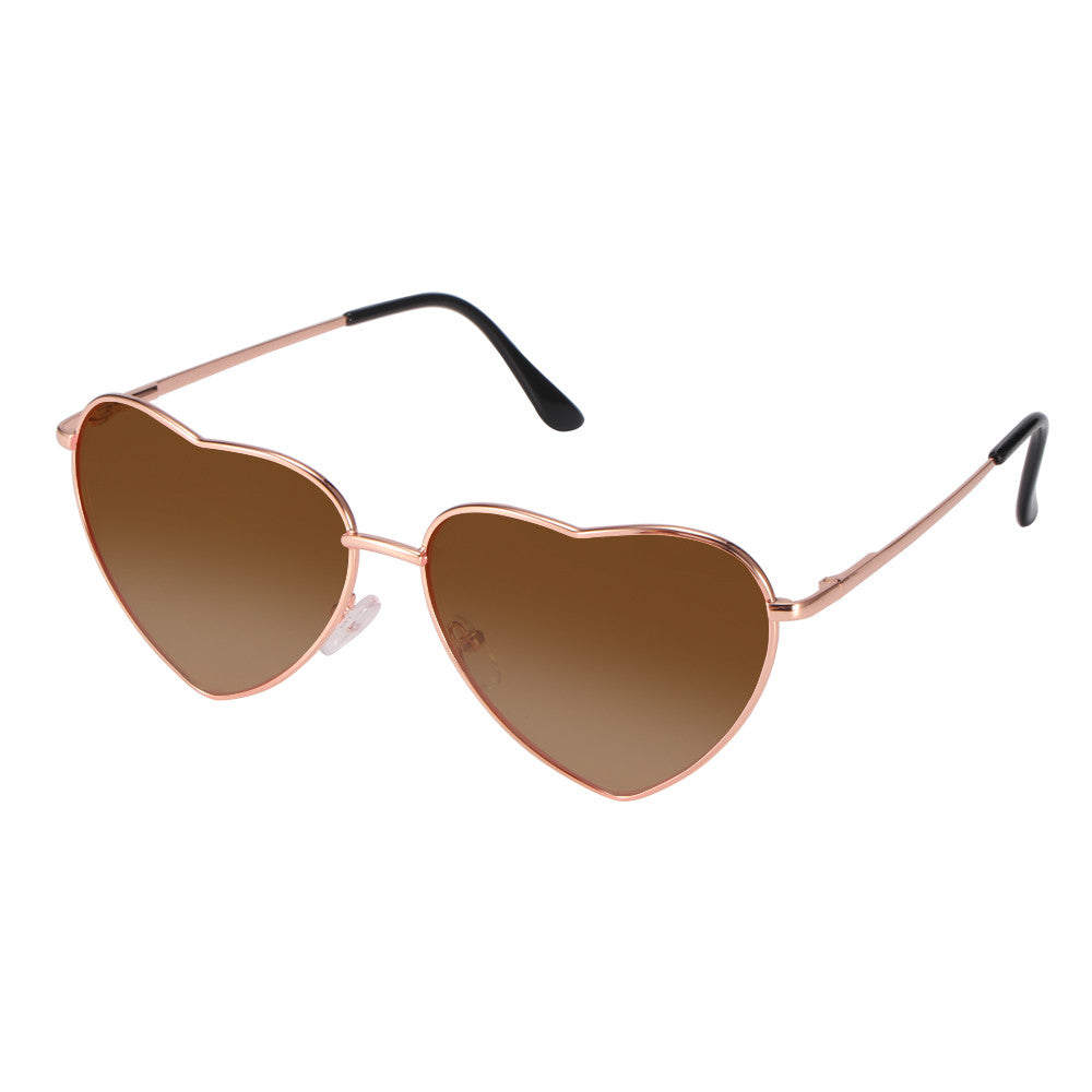 Heart Framed Sunglasses - Women's