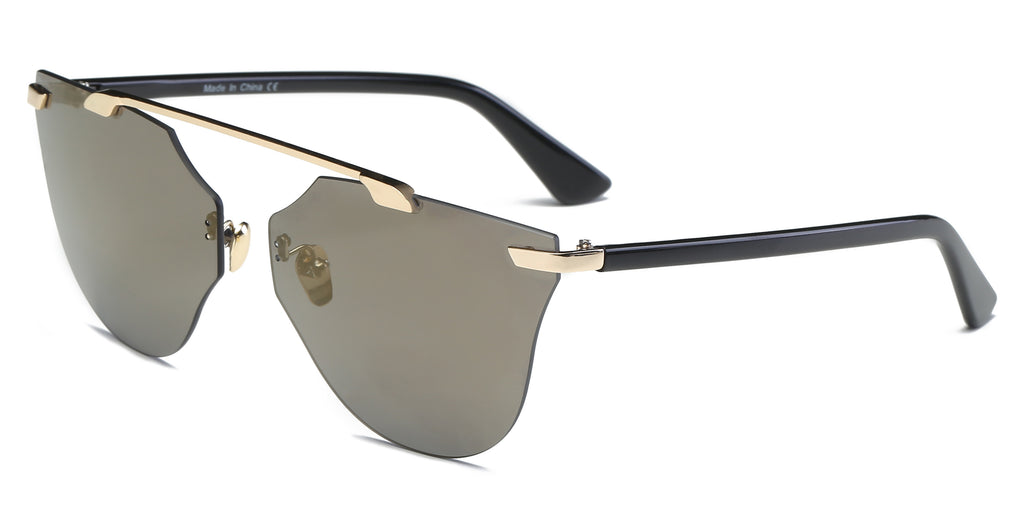 Designer Rimless Sunglasses - Women's