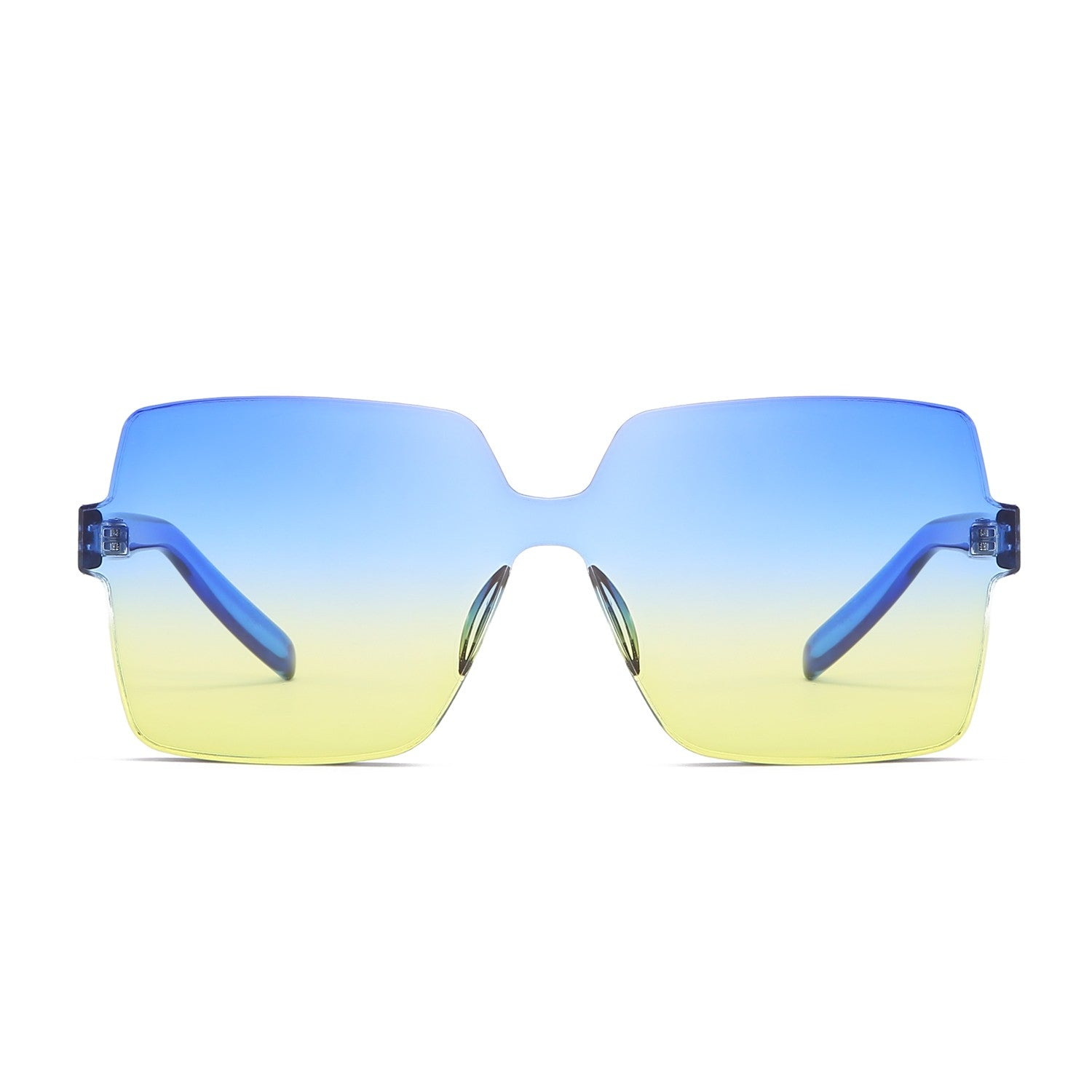 Oversized Rimless Square Sunglasses - Unisex