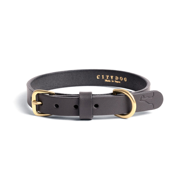 CLASSIC LEATHER COLLAR - Dim Gray