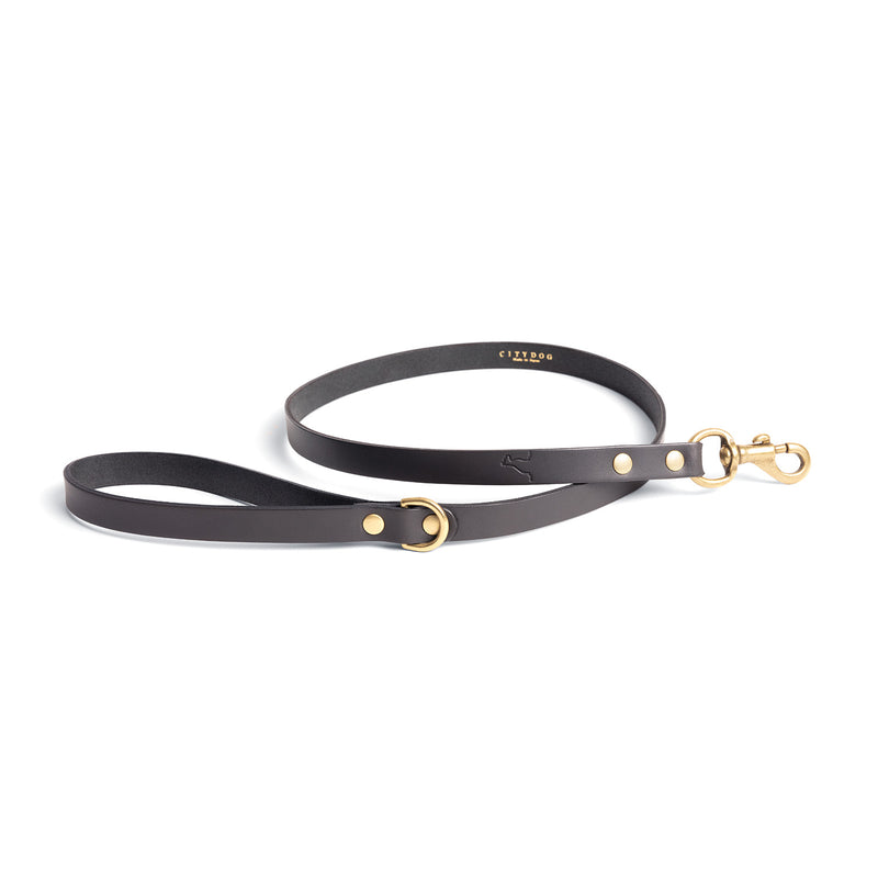 CLASSIC LEATHER LEASH - Dim Gray