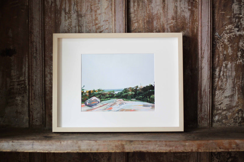 St. Sauveur Mountain | Print on Canvas | Reproduction of Original