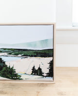 Stretched Sand Beach Lookout | Print on Canvas | Framed Reproduction of Original