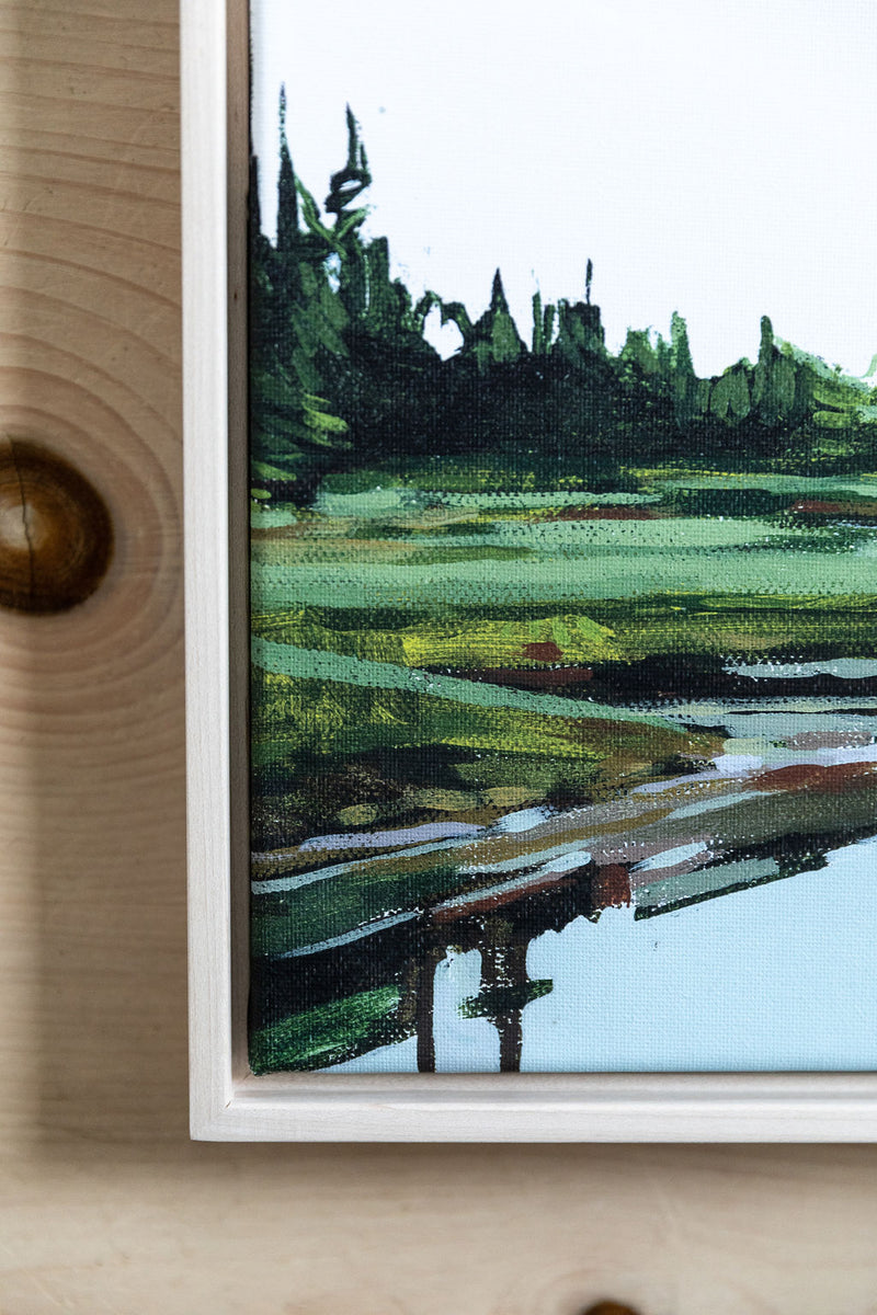 Stretched Marsh | Print on Canvas | Framed Reproduction of Original