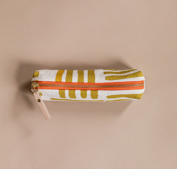 Ochre Pencil Bag | Hand Made by Erin Flett