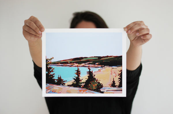 Sand Beach Great Head | Print on Canvas | Reproduction of Original