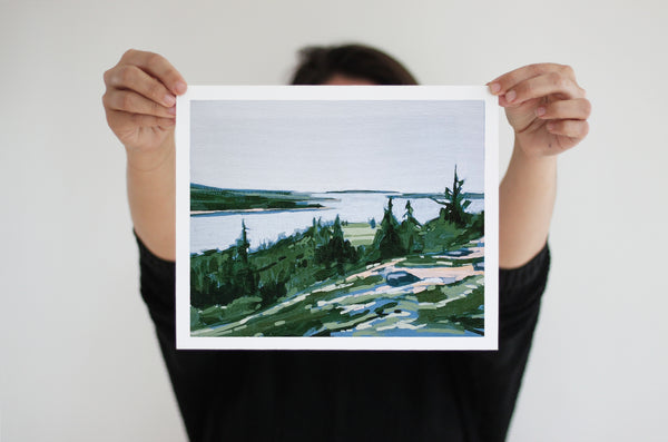Somes Sound Opening | Print on Canvas | Reproduction of Original
