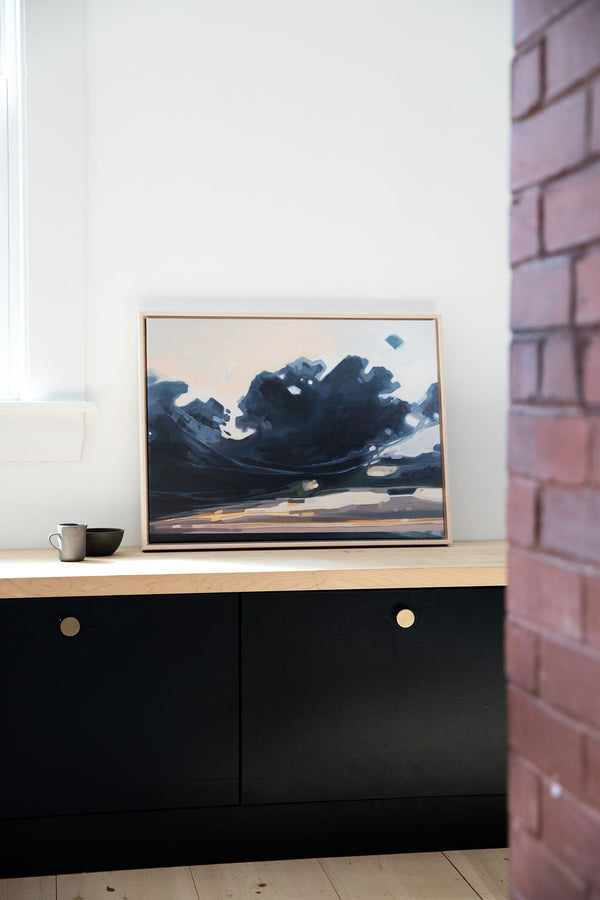 Stretched Storm | Print on Canvas | Framed Reproduction of Original