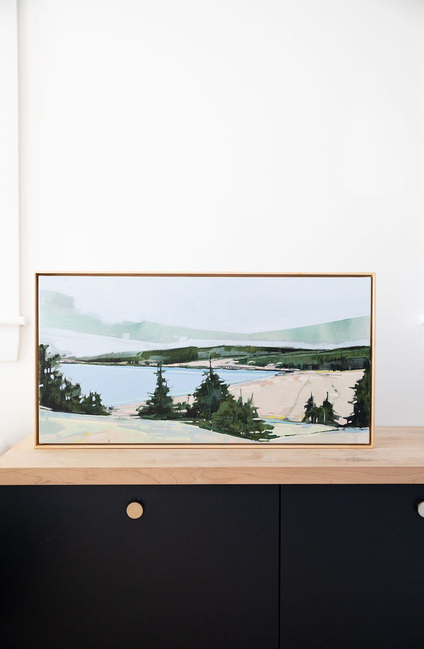 Sand Beach Lookout | 15x30 | Acrylic on Canvas Framed