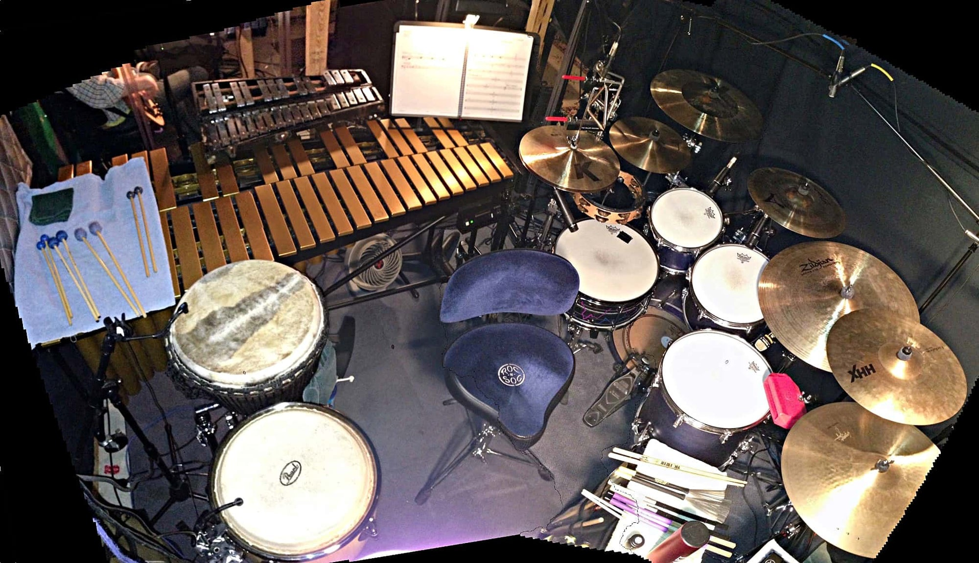 Jason Degenhardt's setup for Next To Normal at Topeka Civic Theatre, in Topeka, Kansas.
