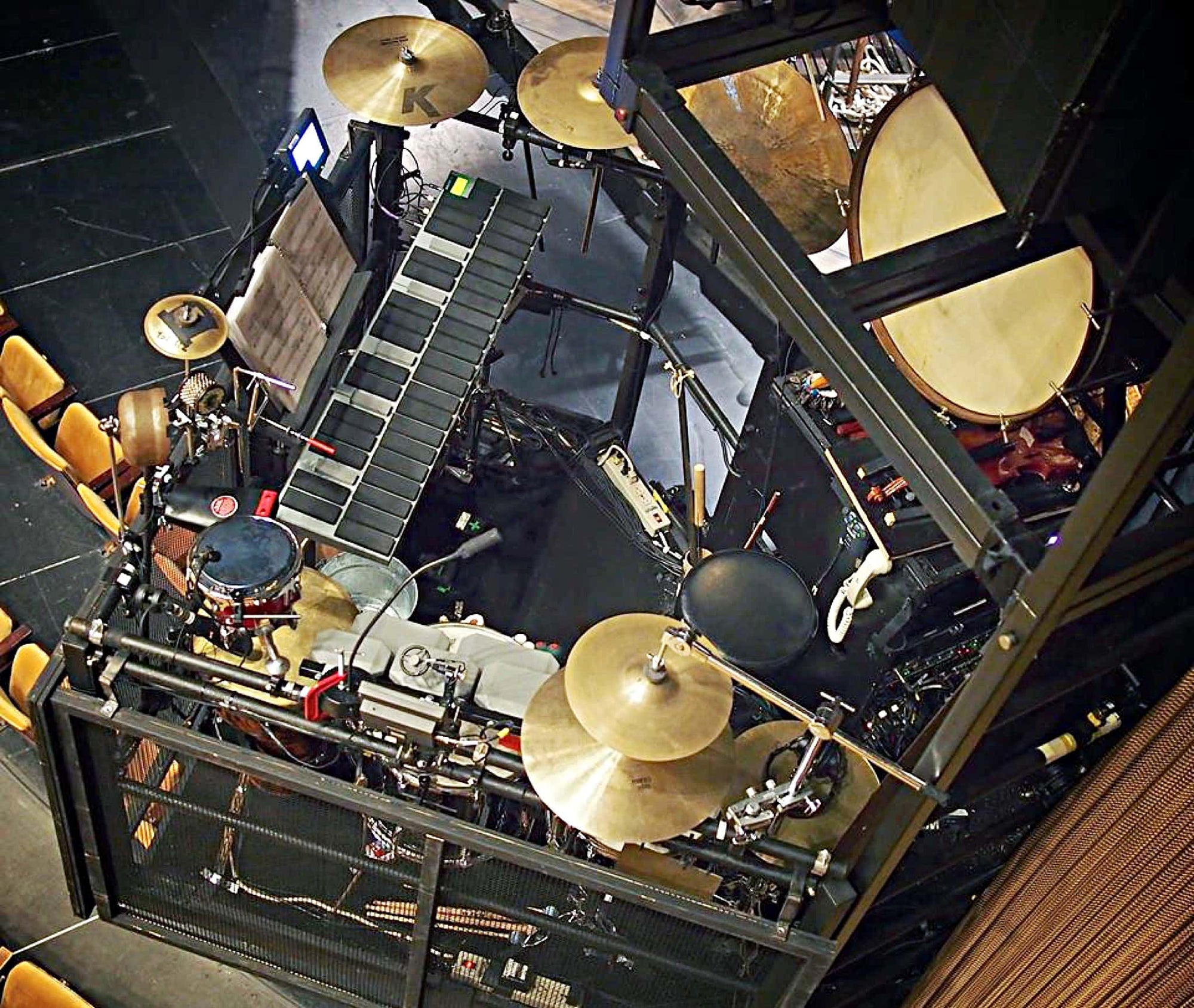 Jeremy Lowe's setup for the National Tour of Peter And The Starcatcher.