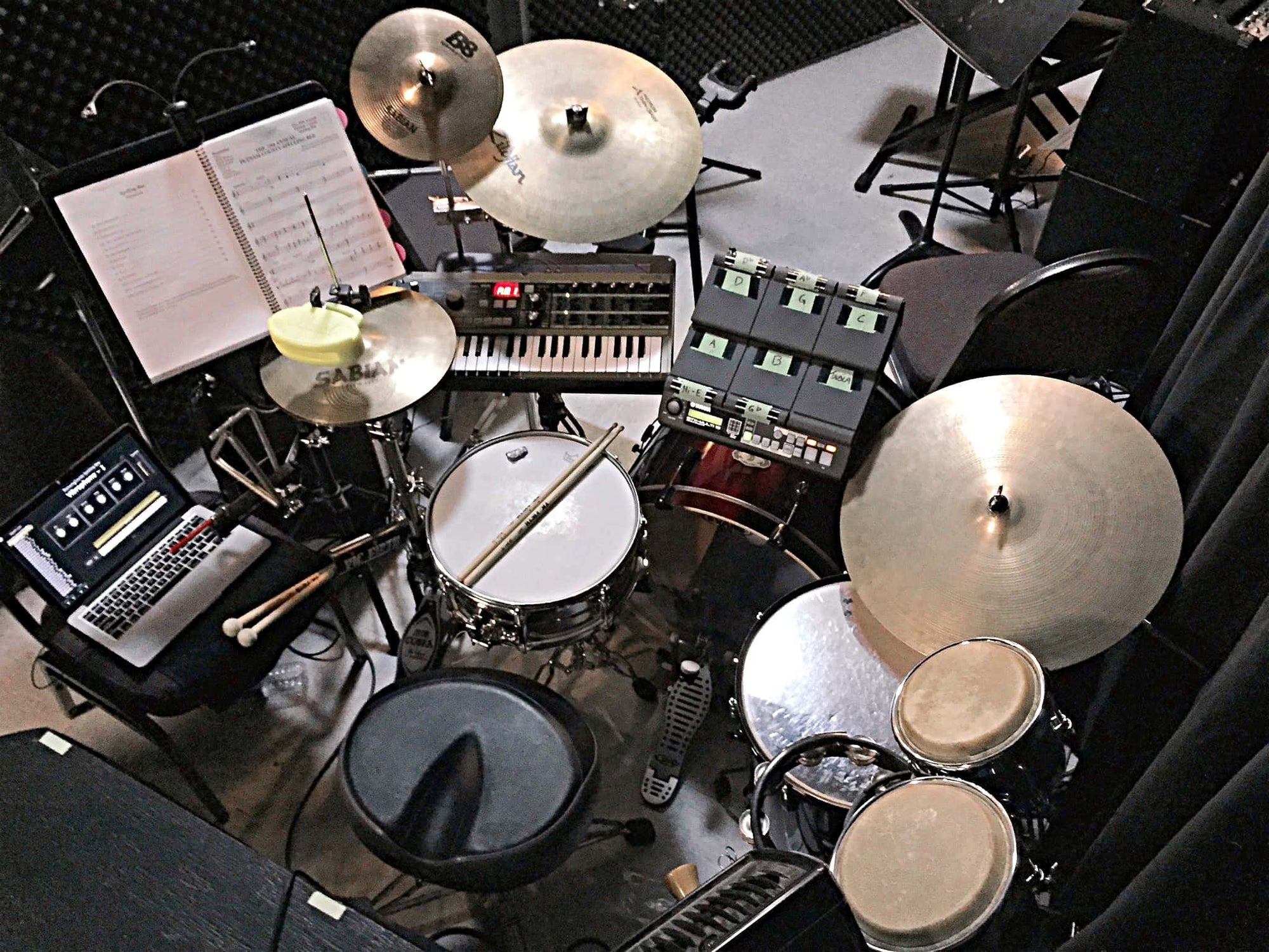 Rob Holinaty's setup for The 25th Annual Putnam County Spelling Bee at the Drury Lane Theatre in Burlington, Ontario, Canada.