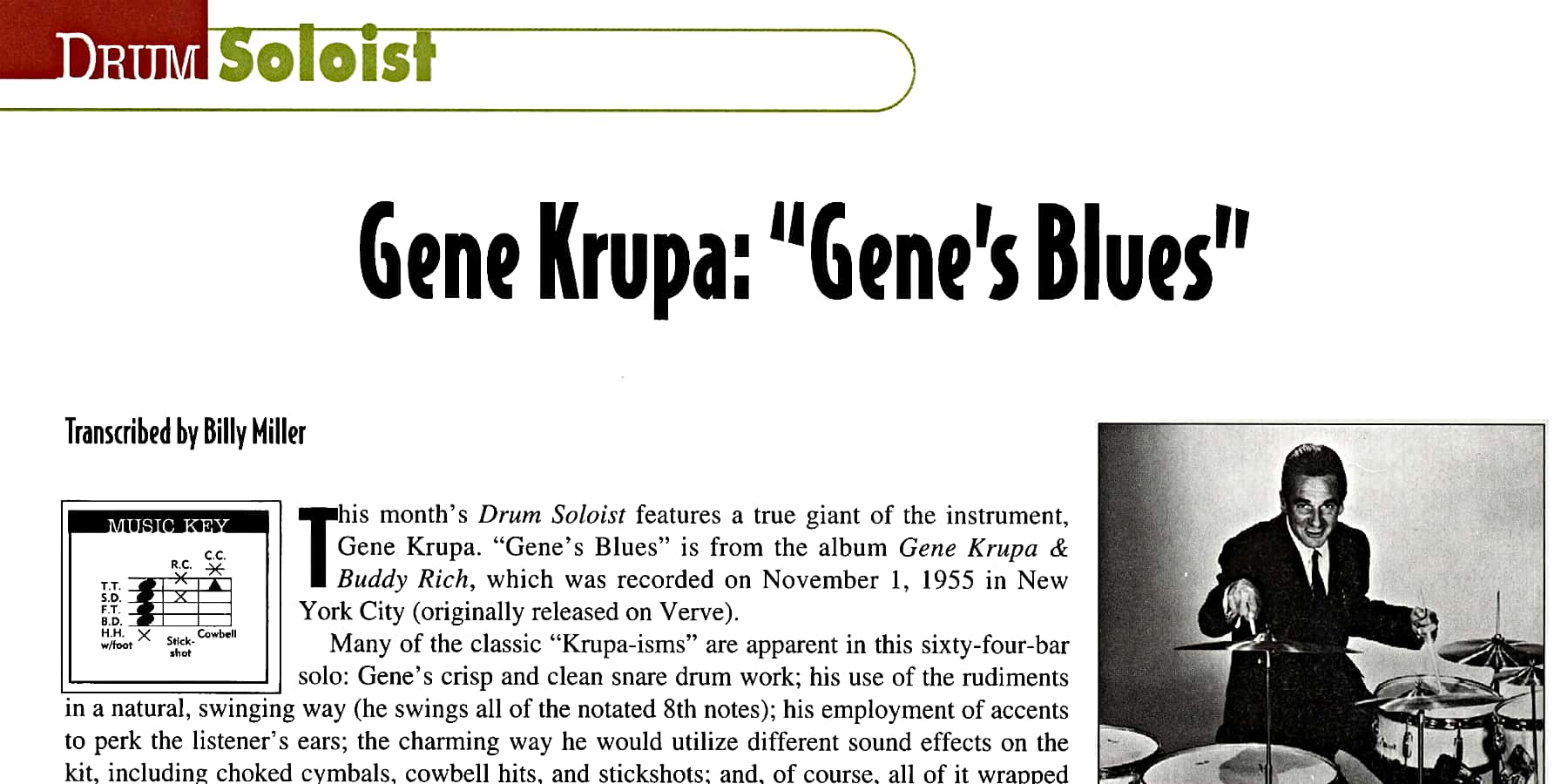 """Gene's Blues"" by Gene Krupa"