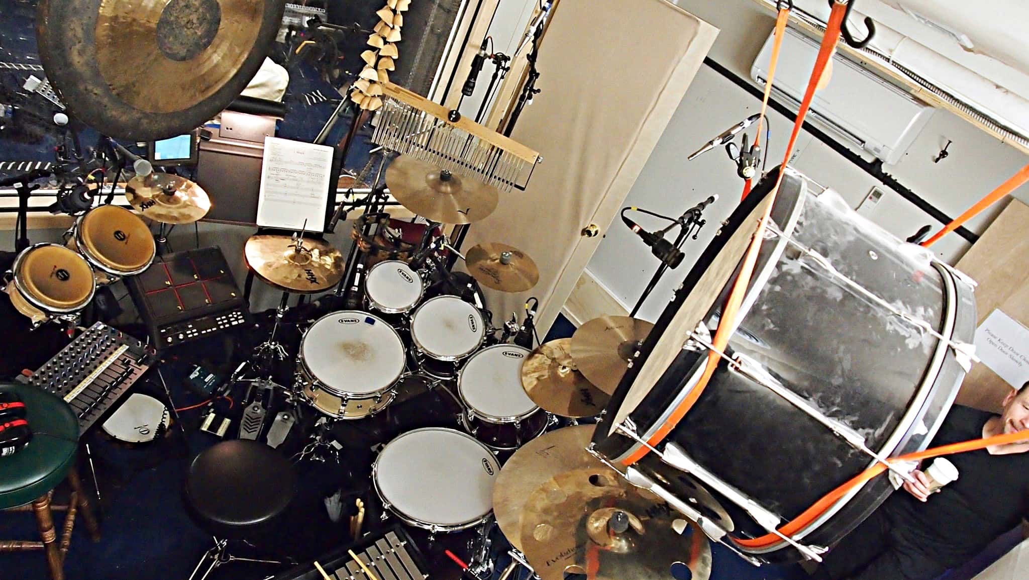 Howard Joines' setup for the Broadway production of Matilda at the Shubert Theater.