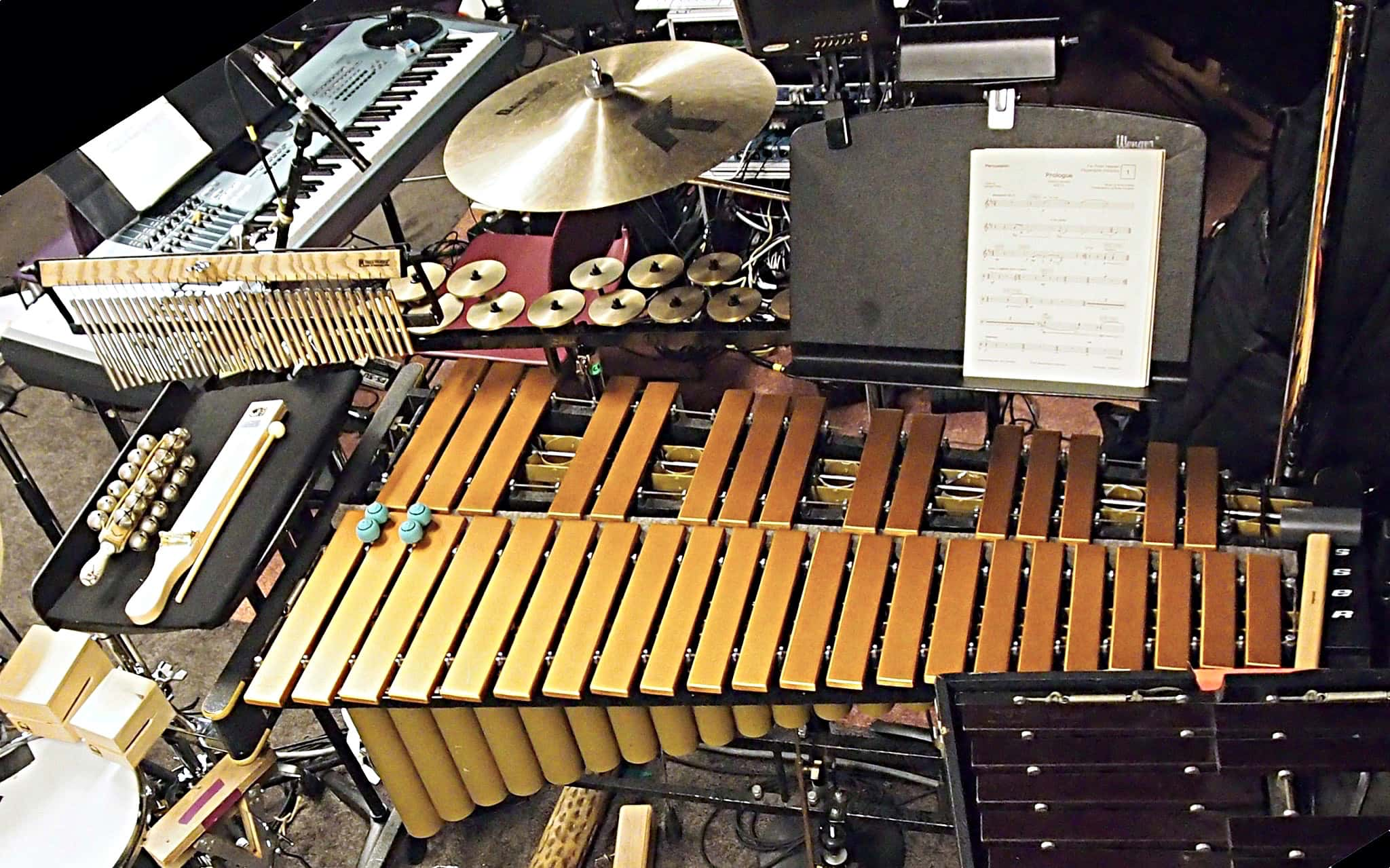 Charlie Descarfino's setup for the Off Broadway production of Far From Heaven at Playwrights Horizons in New York City.
