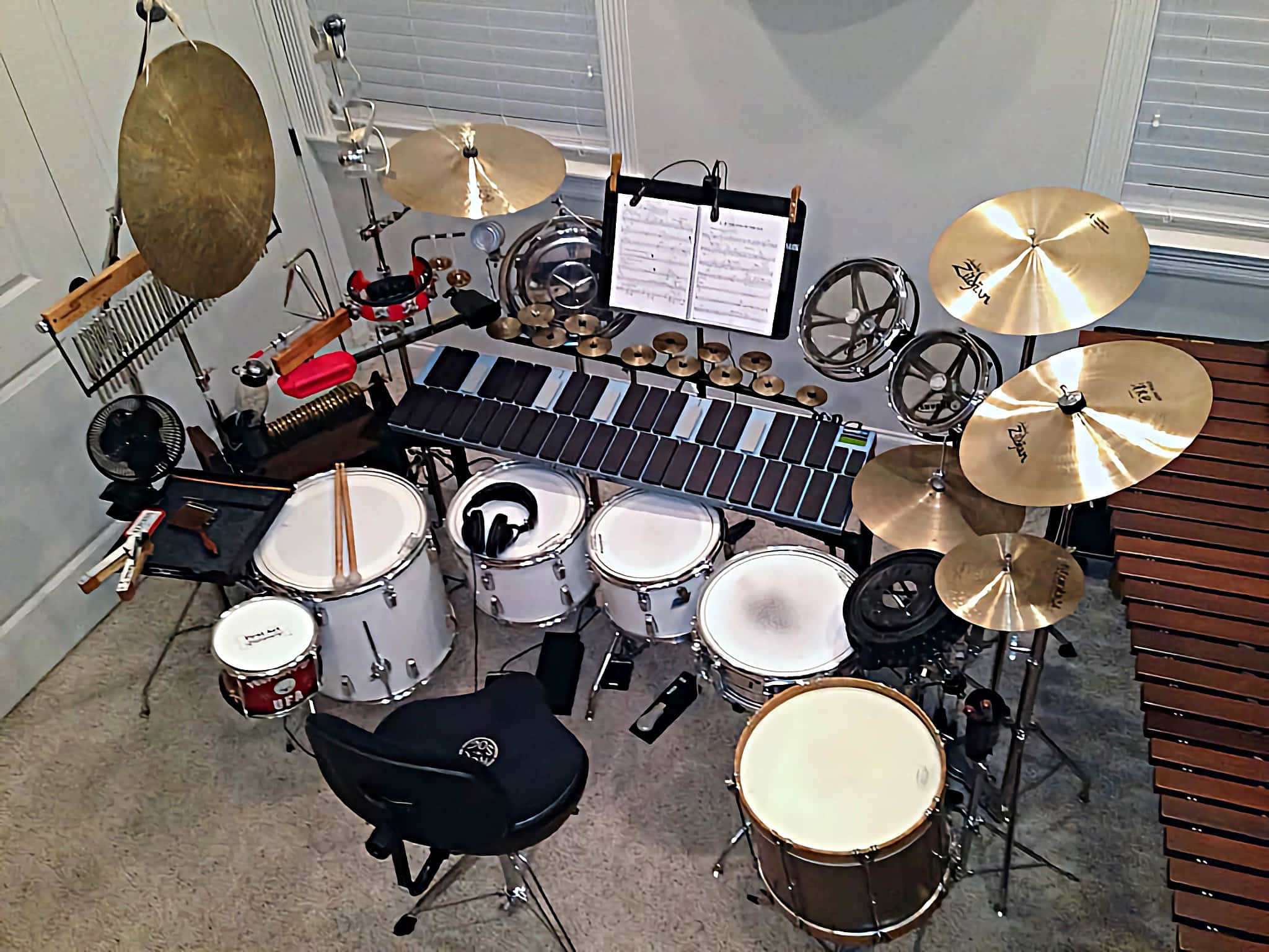 Guy Gauthreaux's setup for Les Miserables at the Theatre Baton Rouge in Baton Rogue, Louisiana.