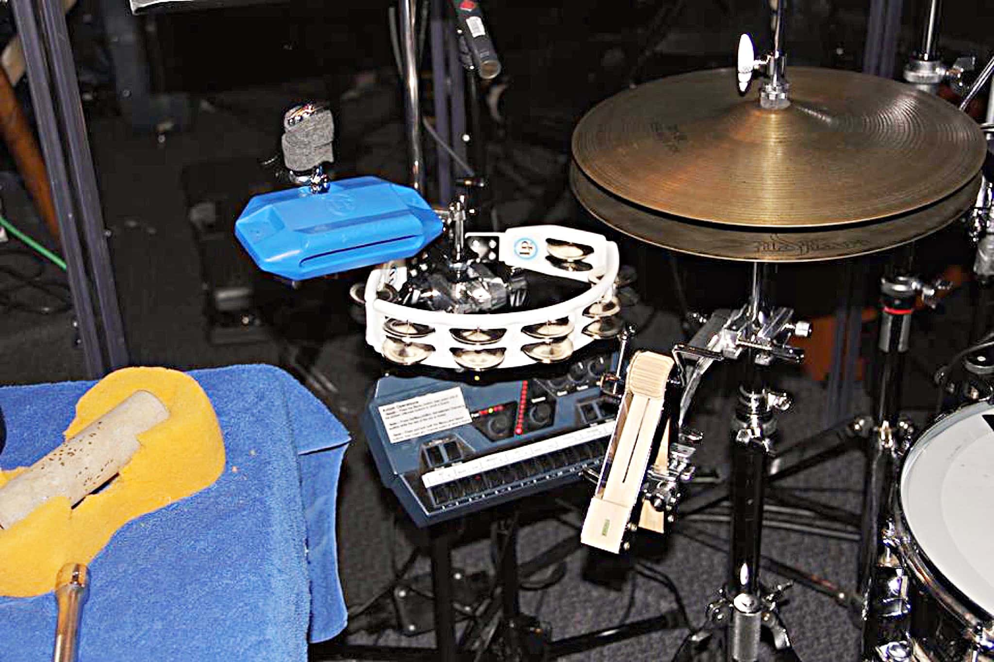 Mike Drake's set up for Side Show at the Casa Mañana Theater, in Fort Worth, Texas.