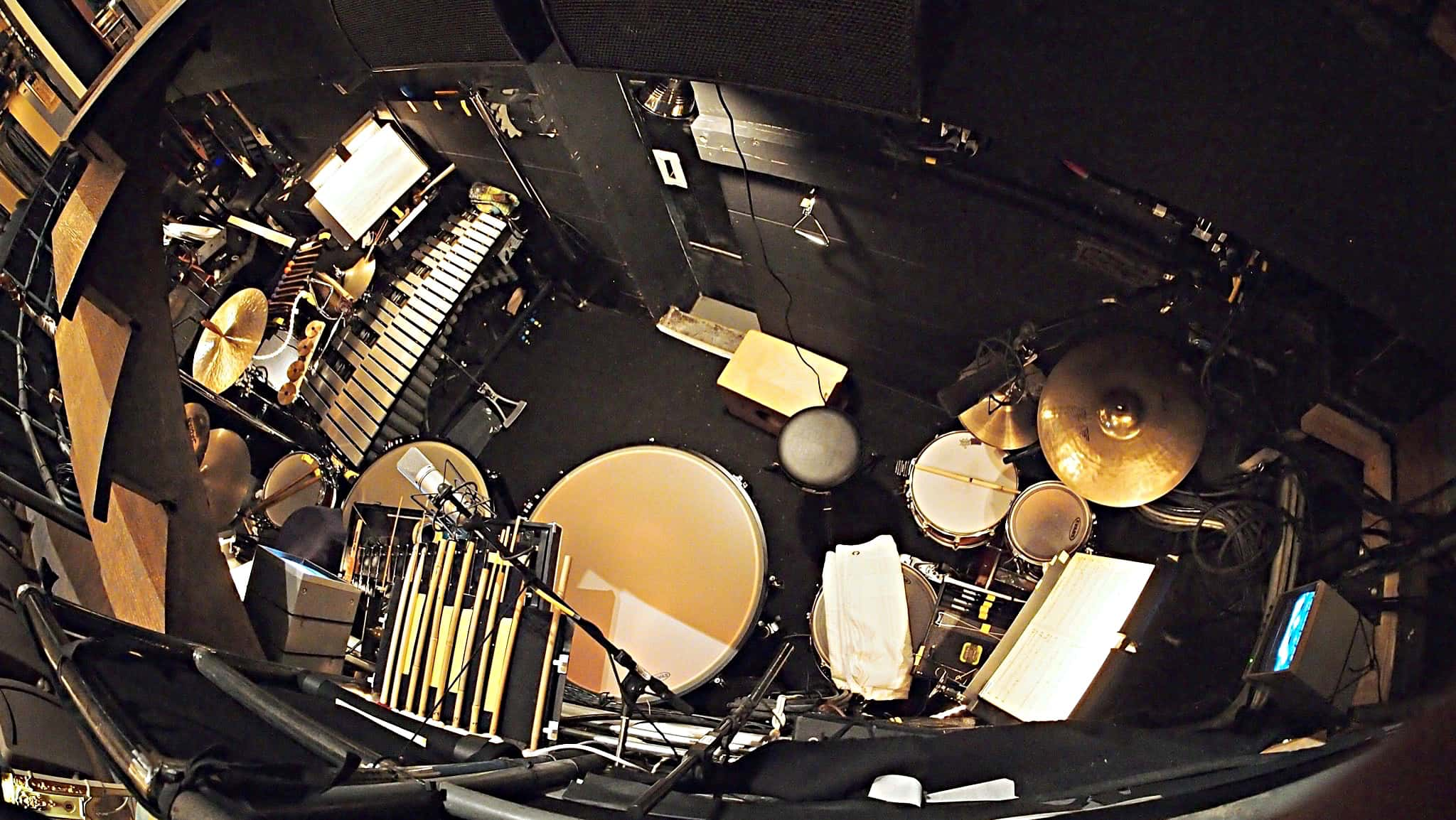 Benny Koonyevsky's setup for the Broadway production of The Bridges of Madison County at the Gerald Schoenfeld Theatre.