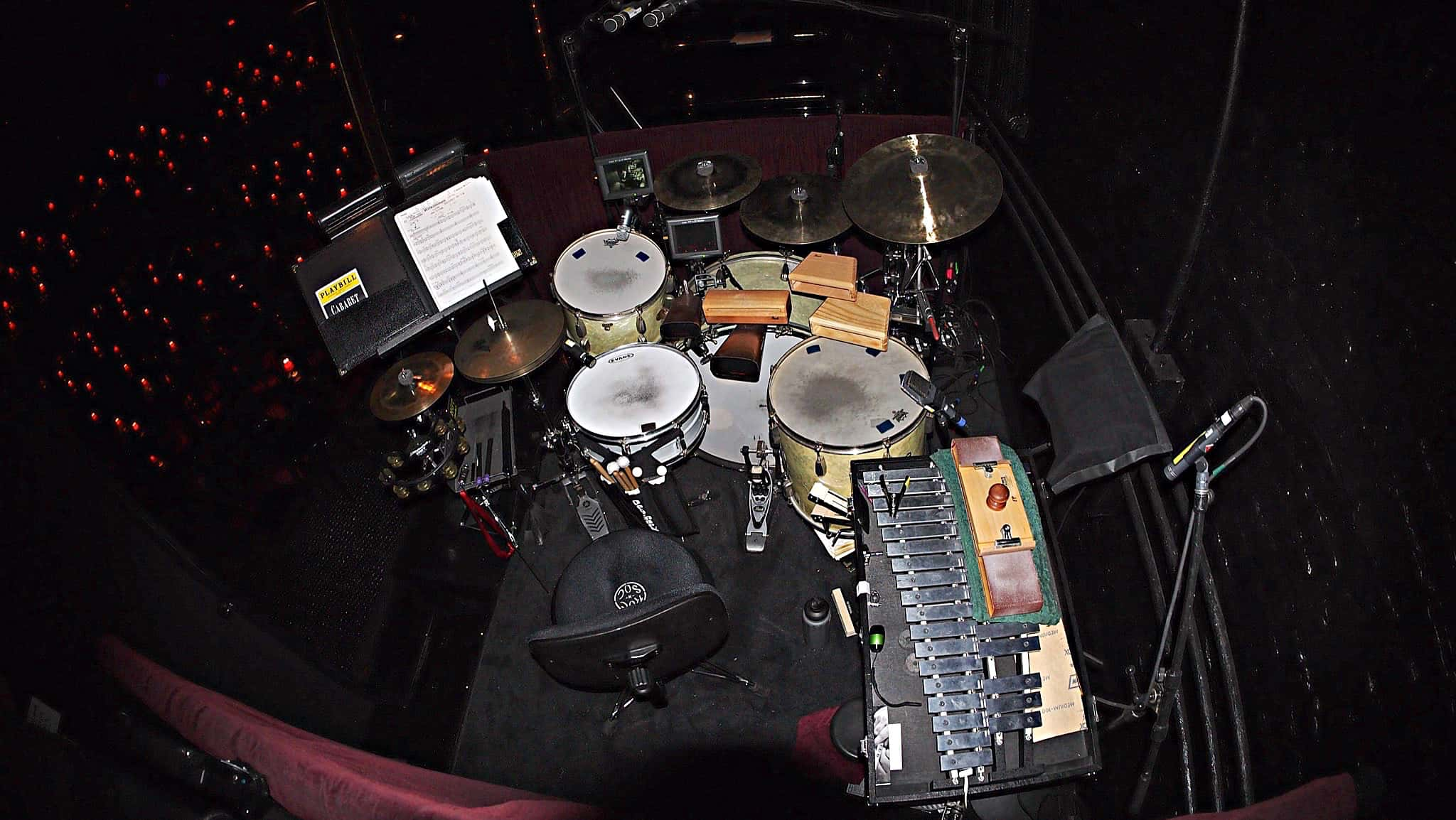 Eric Poland's setup for the Broadway Revival of Cabaret at Studio 54.