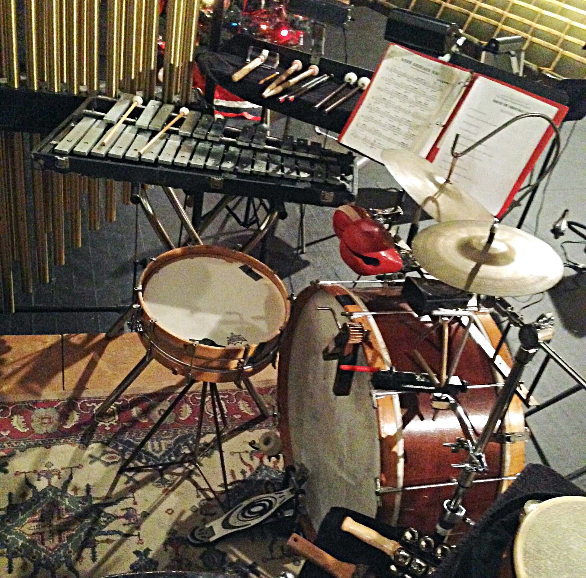 A few of Taylor Goodson's setups from his performances with the Paragon Ragtime Orchestra.